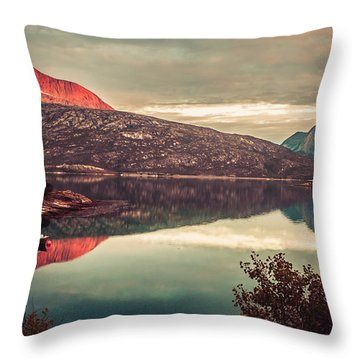 The Flames Throw Pillow