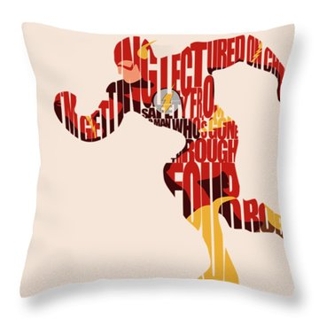 The Flash Throw Pillow