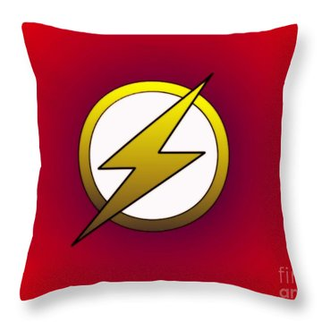The Flash  Throw Pillow by Justin Moore