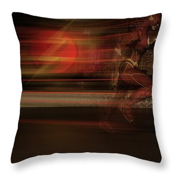 Throw Pillow featuring the digital art The Flash  by Louis Ferreira