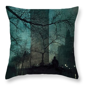The Flatiron Building Throw Pillow
