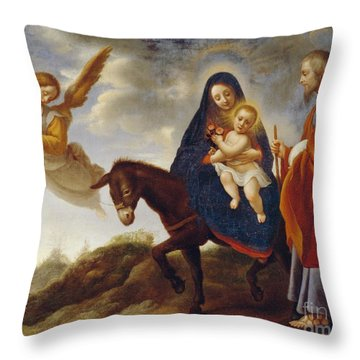 The Flight Into Egypt Throw Pillow by Carlo Dolci