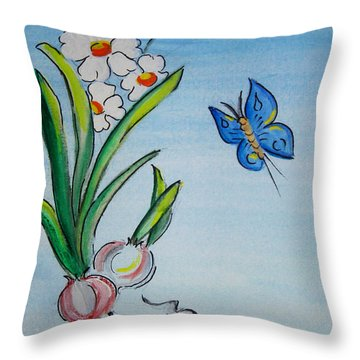 The Flight Of The Butterfly Throw Pillow