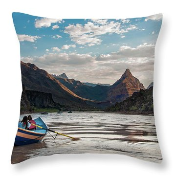 Throw Pillow featuring the photograph The Float Out by Britt Runyon