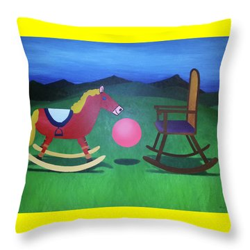 The Floating In-between Throw Pillow