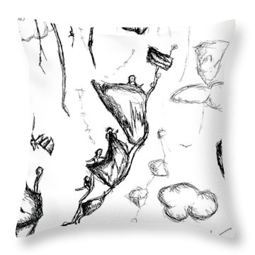 The Floating Mountains Throw Pillow by Jera Sky