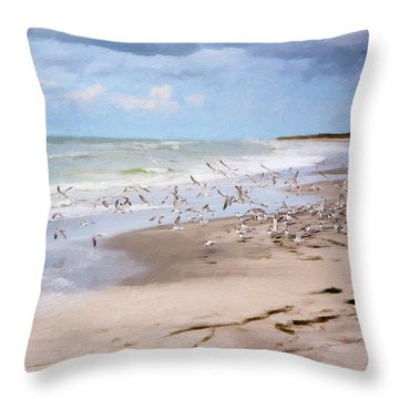 The Flock Throw Pillow