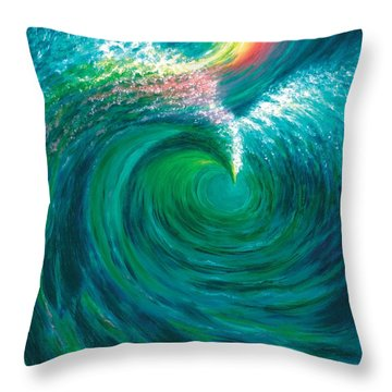 The Flood And The Covenant Throw Pillow