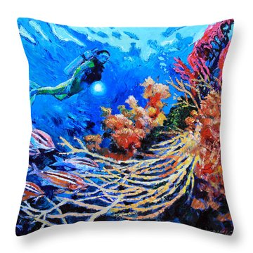 The Flow Of Creation Throw Pillow