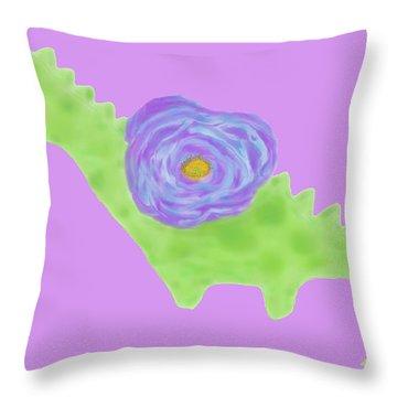 The Flower Dinosaur  Throw Pillow