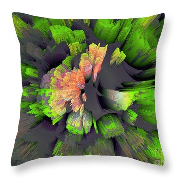 The Flower Factory 2 Throw Pillow