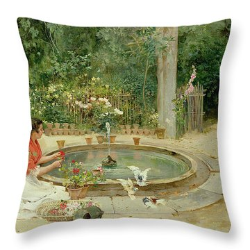 The Flower Garden Throw Pillow