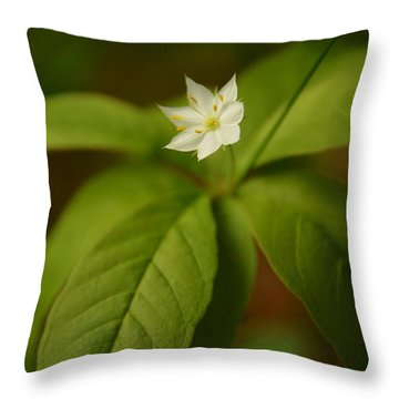 The Flower Of The Dark Woods Throw Pillow