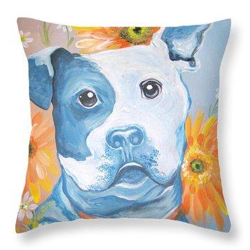The Flower Pitt Throw Pillow
