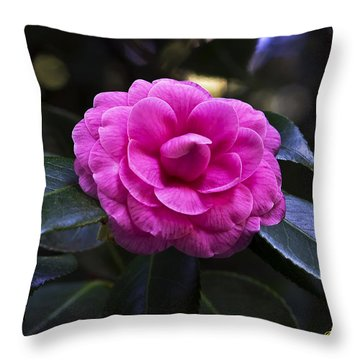 The Flower Signed Throw Pillow