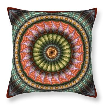 The Flowering Of The Sunshine Moons Throw Pillow