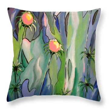 The Flowers Have It Throw Pillow