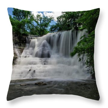 The Flowing Falls Throw Pillow