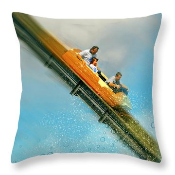 Throw Pillow featuring the photograph The Flume by Diana Angstadt