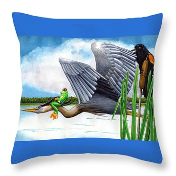 The Fly By Throw Pillow