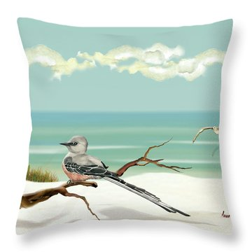 The Flycatcher Throw Pillow