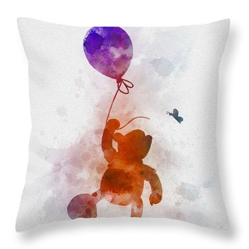 The Flying Bear Throw Pillow