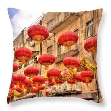 The Flying Dragon Throw Pillow