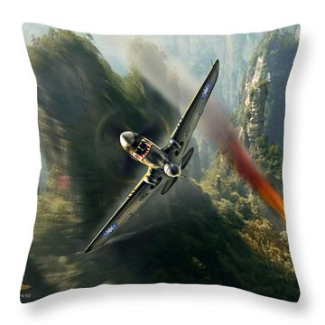 The Flying Tigers Throw Pillow
