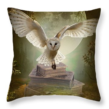The Flying Wise Throw Pillow