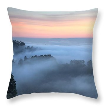 The Fog Kept On Rolling In Throw Pillow