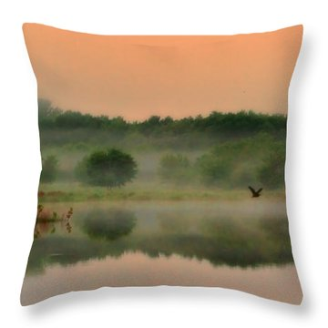 The Fog Of Summer Throw Pillow by Elizabeth Winter