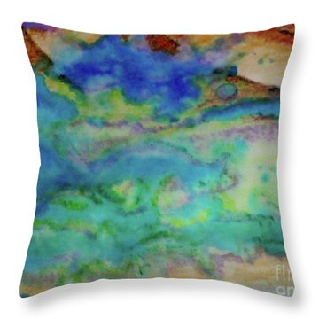 The Fog Rolls In Throw Pillow