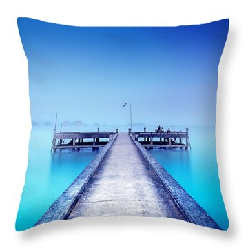 The Foggy Morning Throw Pillow