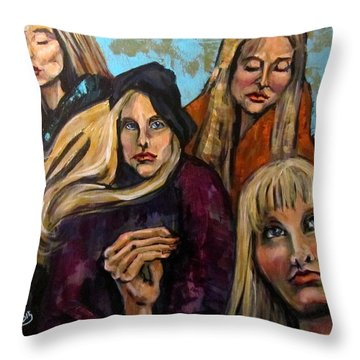 The Folk Singer Throw Pillow