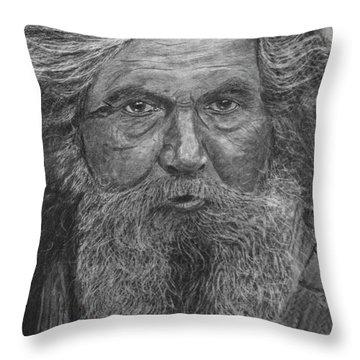The Folk Singer Throw Pillow