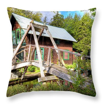 Throw Pillow featuring the photograph The Footbridge At Palmer Point by David Patterson