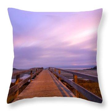 The Footbridge Good Harbor Beach Throw Pillow