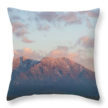 Throw Pillow featuring the photograph The Foothills by Aaron Spong