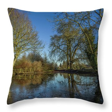 The Ford At The Street Throw Pillow