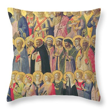 The Forerunners Of Christ With Saints And Martyrs Throw Pillow by Fra Angelico