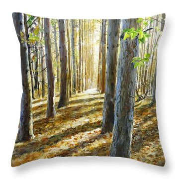The Forest And The Trees Throw Pillow