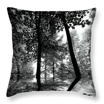 Throw Pillow featuring the photograph The Forest by Elfriede Fulda