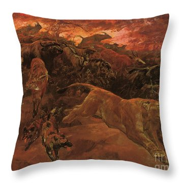 The Forest Fire Throw Pillow
