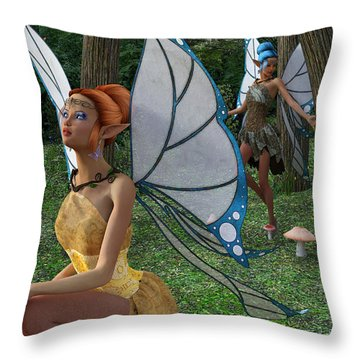 The Forest Never Tells Throw Pillow