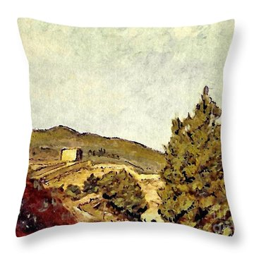 The Fort In Lorca Throw Pillow by Sarah Loft