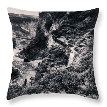 The Fort In The Mist Throw Pillow by Rajiv Chopra