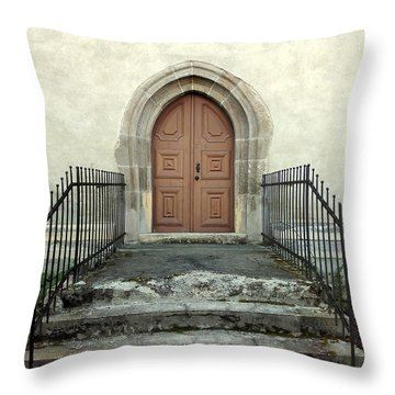 The Fortress Church's Side Door  Throw Pillow