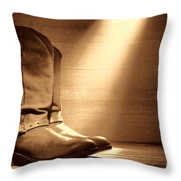 The Found Boots Throw Pillow