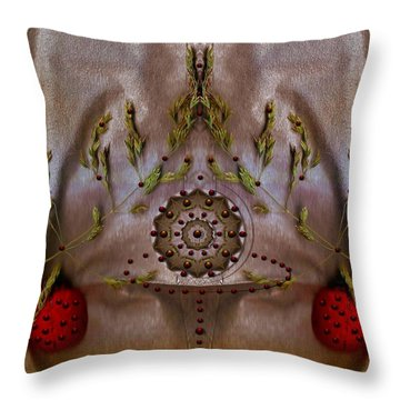 The Fountain Of Life Throw Pillow by Pepita Selles