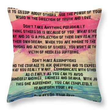 The Four Agreements 11 Throw Pillow